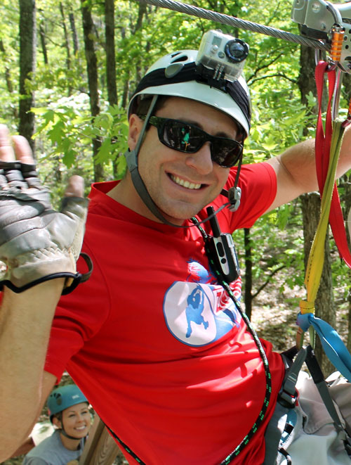 Distance no problem for ziplining student