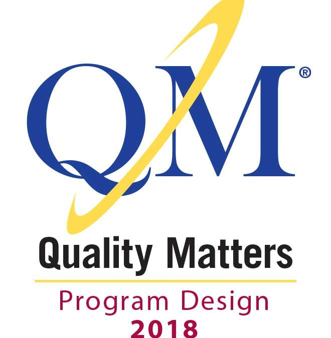 Special education program first in nation to earn Quality Matters certification