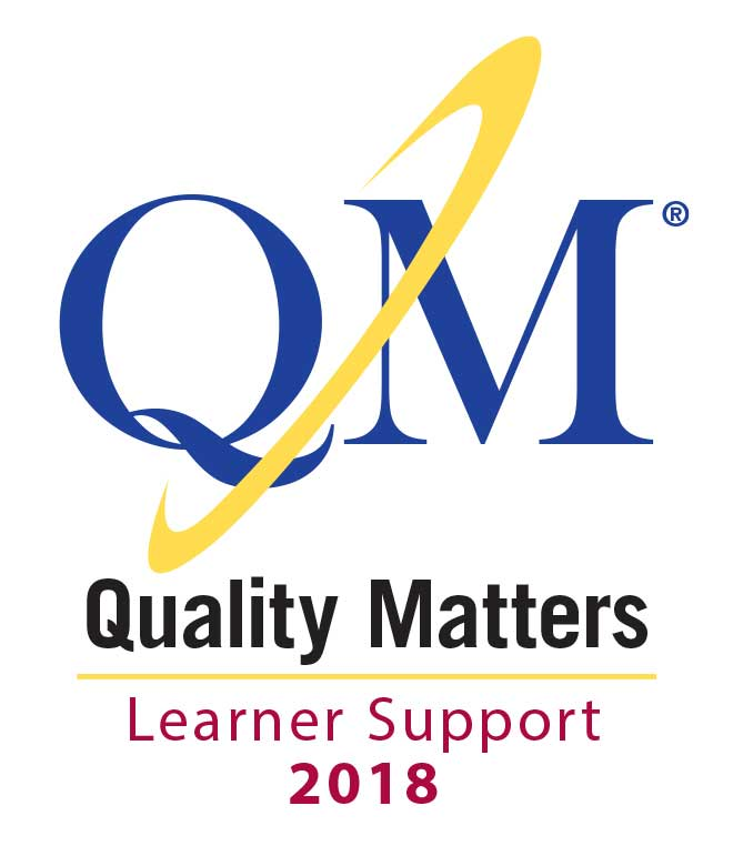 Quality Matters Learner Support 2018 certification mark