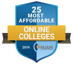 College Consensus badge for 25 Most Affordable Online Colleges in 2019