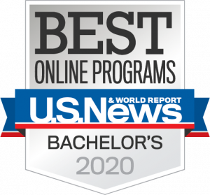 US News and World Report badge for Best Online Bachelor's Programs 2020
