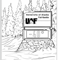 UAF Coloring Book Pages