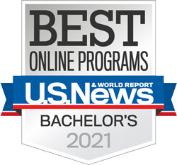 Best Online Bachelor Programs badge from U.S. News & World Report