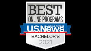 Best Online Bachelor Programs badge from U.S. News & World Report